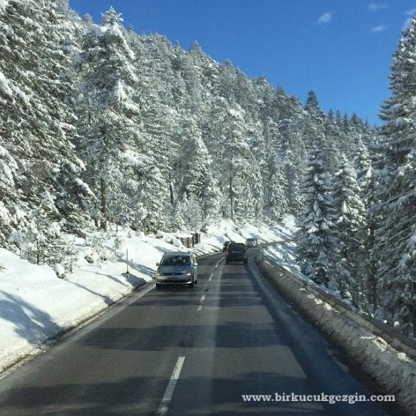 Avusturya'dan Almanya'ya geçerken dağ yolları